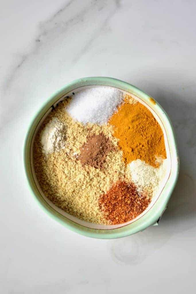 blend of spices and seasoning to make homemade mustard
