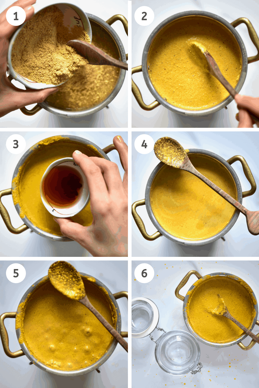 step-by-step how to make mustard