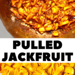 PULLED JACKFRUIT before and during cooking