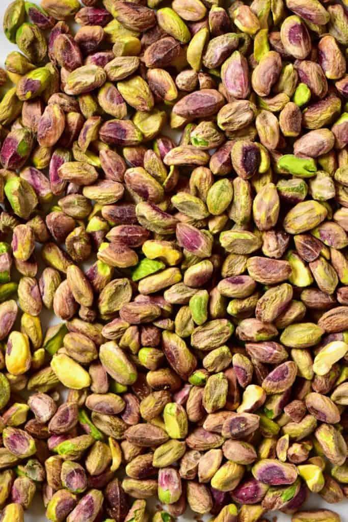 close up of pistachio nuts