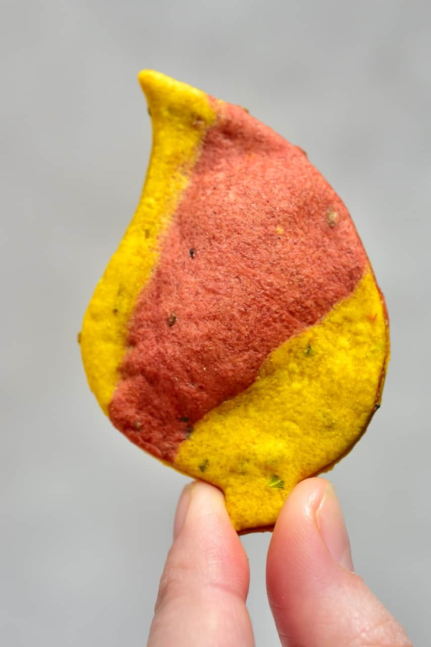 Red and Yellow Autumn Leaf Cracker