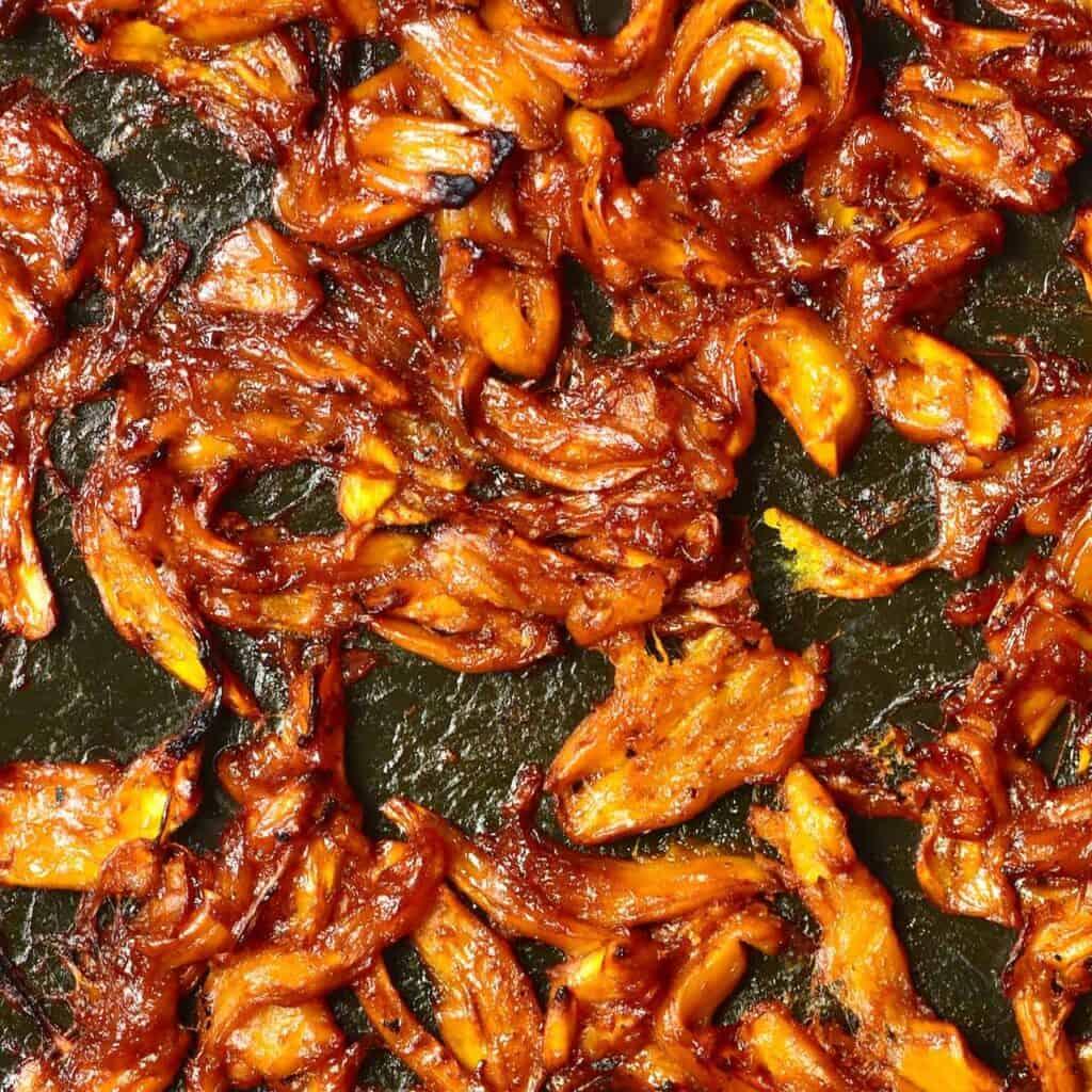 Square image of BBQ jackfruit