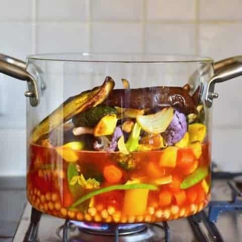 Rainbow vegetable stew