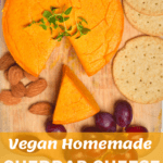 A simple and delicious, melty Vegan smoked cheddar cheese. Perfect for using as cheese slices, grated and melted over a variety of dishes.