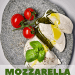 A simple stretchy, gooey and delicious vegan mozzarella recipe. Perfect for pizzas, pasta dishes, salads and more.