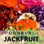 a closeup photo of the Donburi Jackfruit Bowl