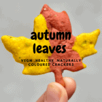 one autumn leaf cracker in a hand