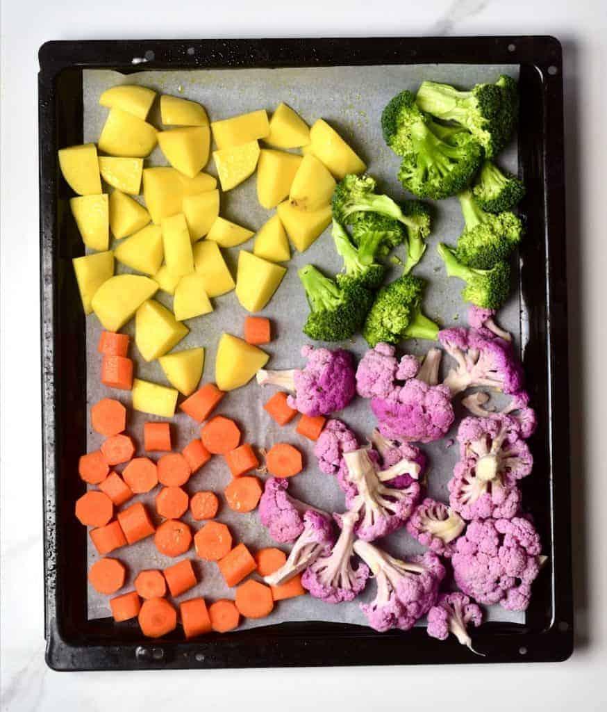rainbow vegetables for roasting