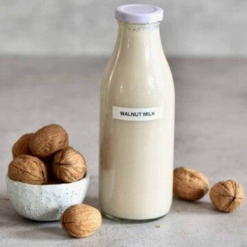 Walnut milk square photo