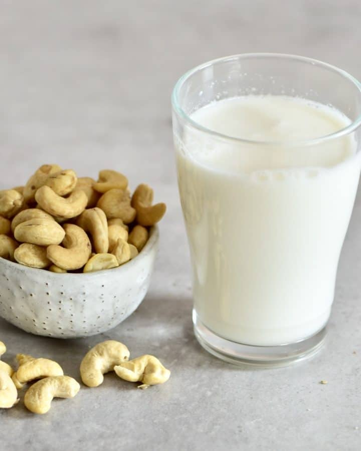 Cashew milk square photo