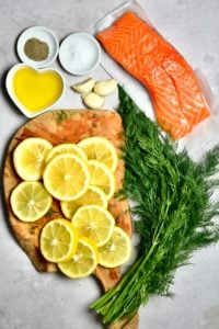 Ingredients for Baked Salmon