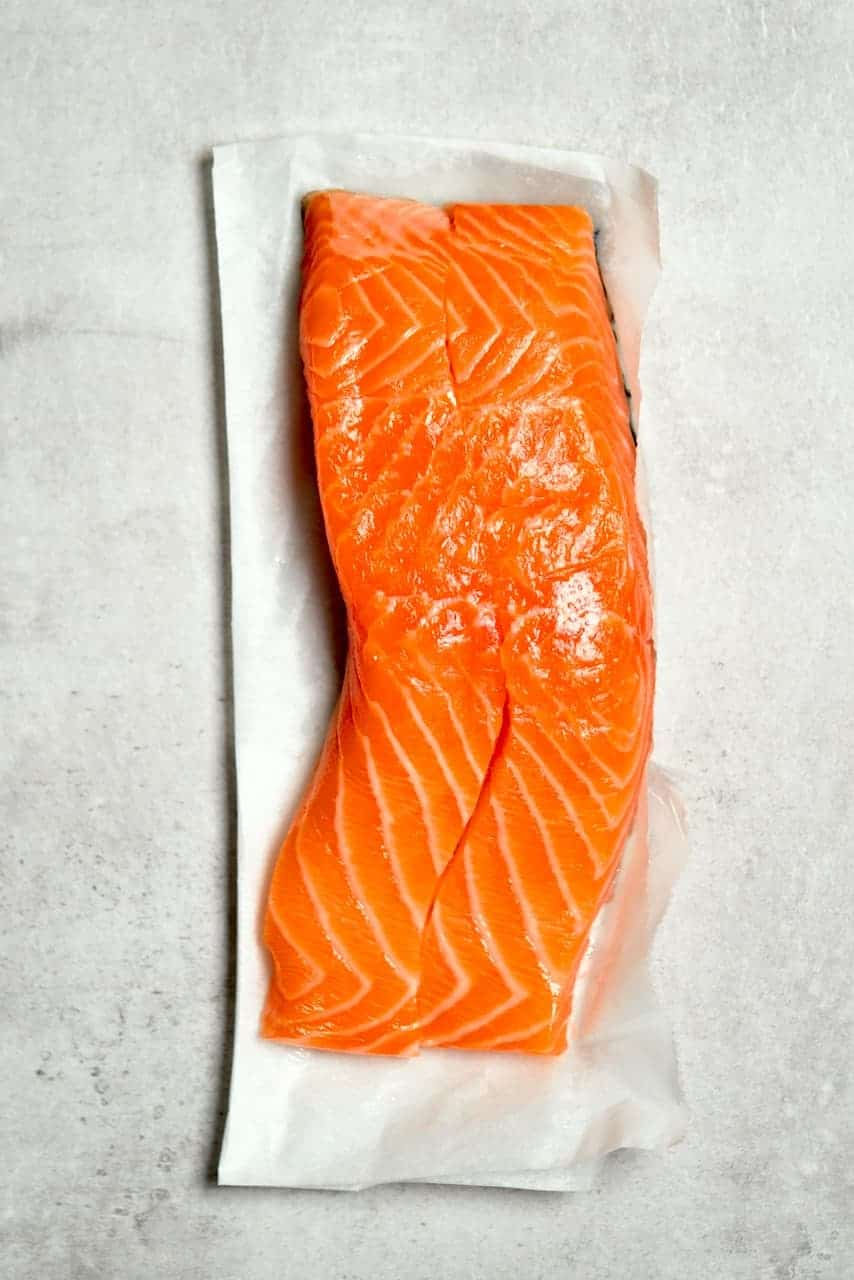 Responsibly sourced salmon fillets