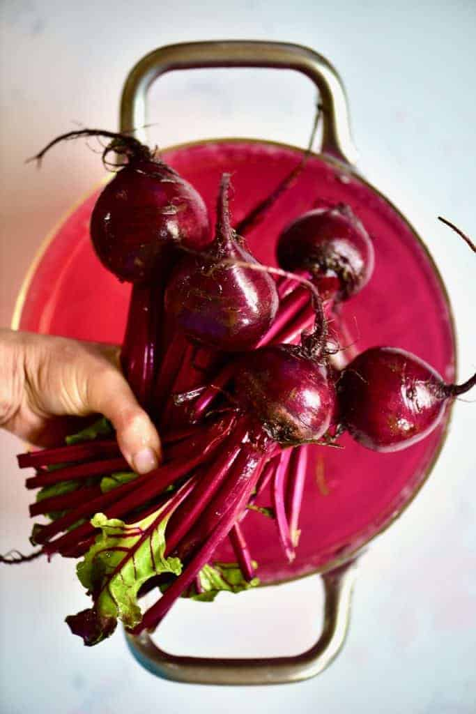 Cleaned beetroot