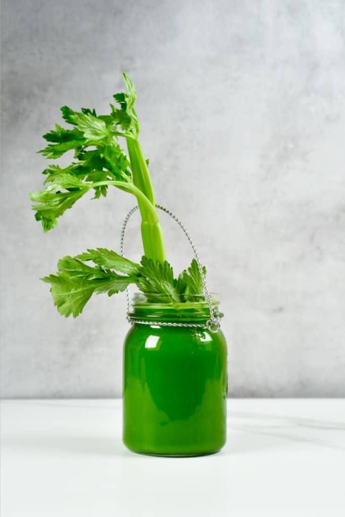 Celery Juice in a jar