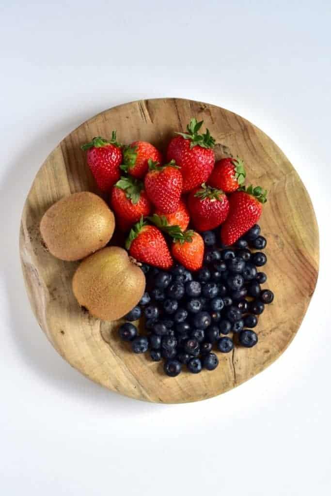 Fruit for coconut cake