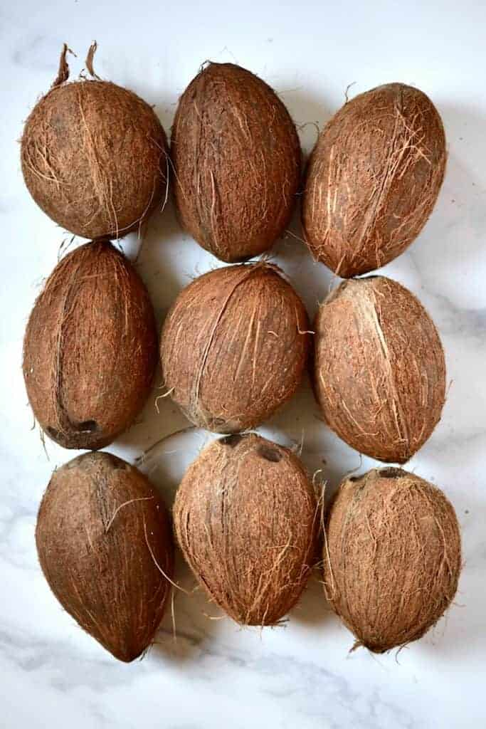 9 coconuts
