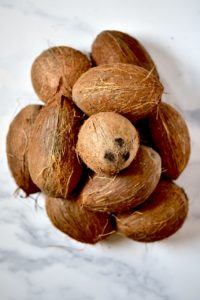 A pile of coconuts