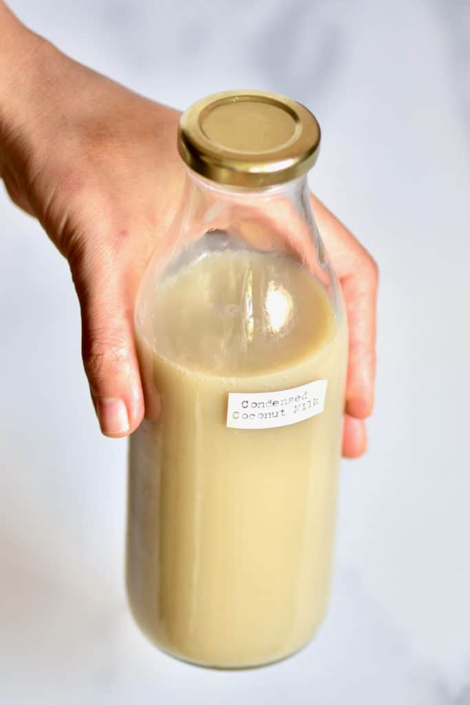 Condensed Coconut Milk in a bottle