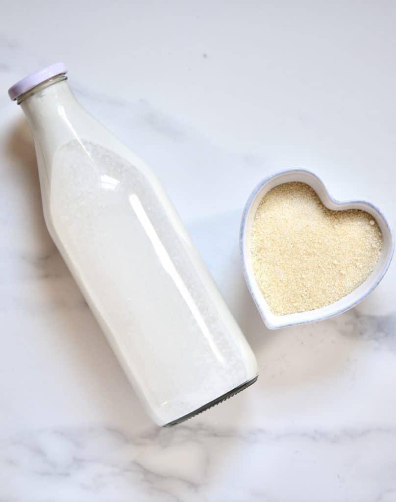 Coconut Milk and sugar
