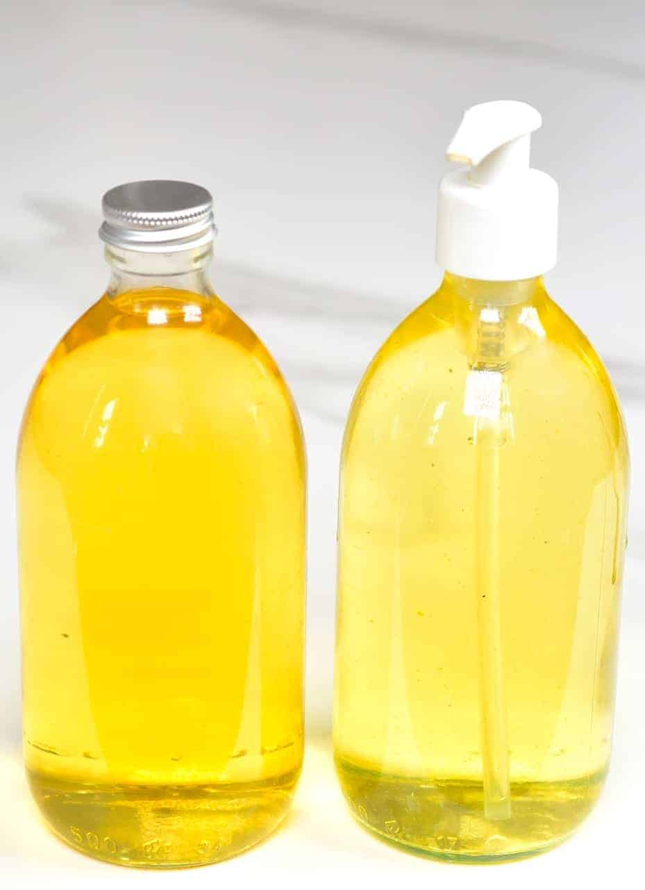 Diluted citrus cleaner and undiluted one