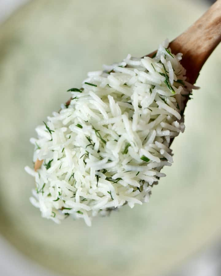 Square image of basmati rice