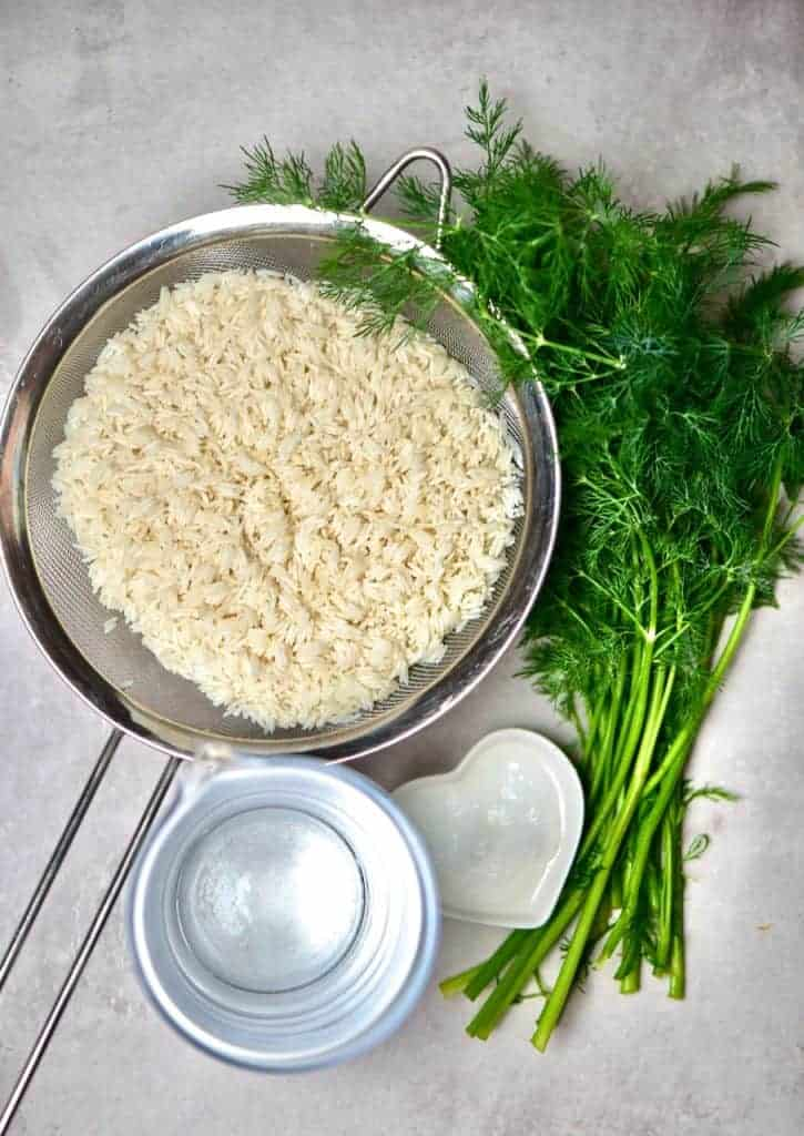 Ingredients for Fluffy Basmati Rice with Dill