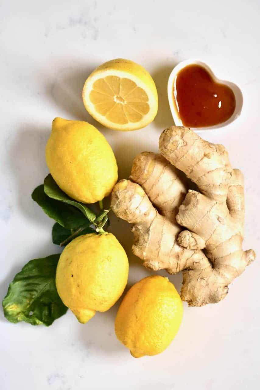 Lemon Ginger root and honey