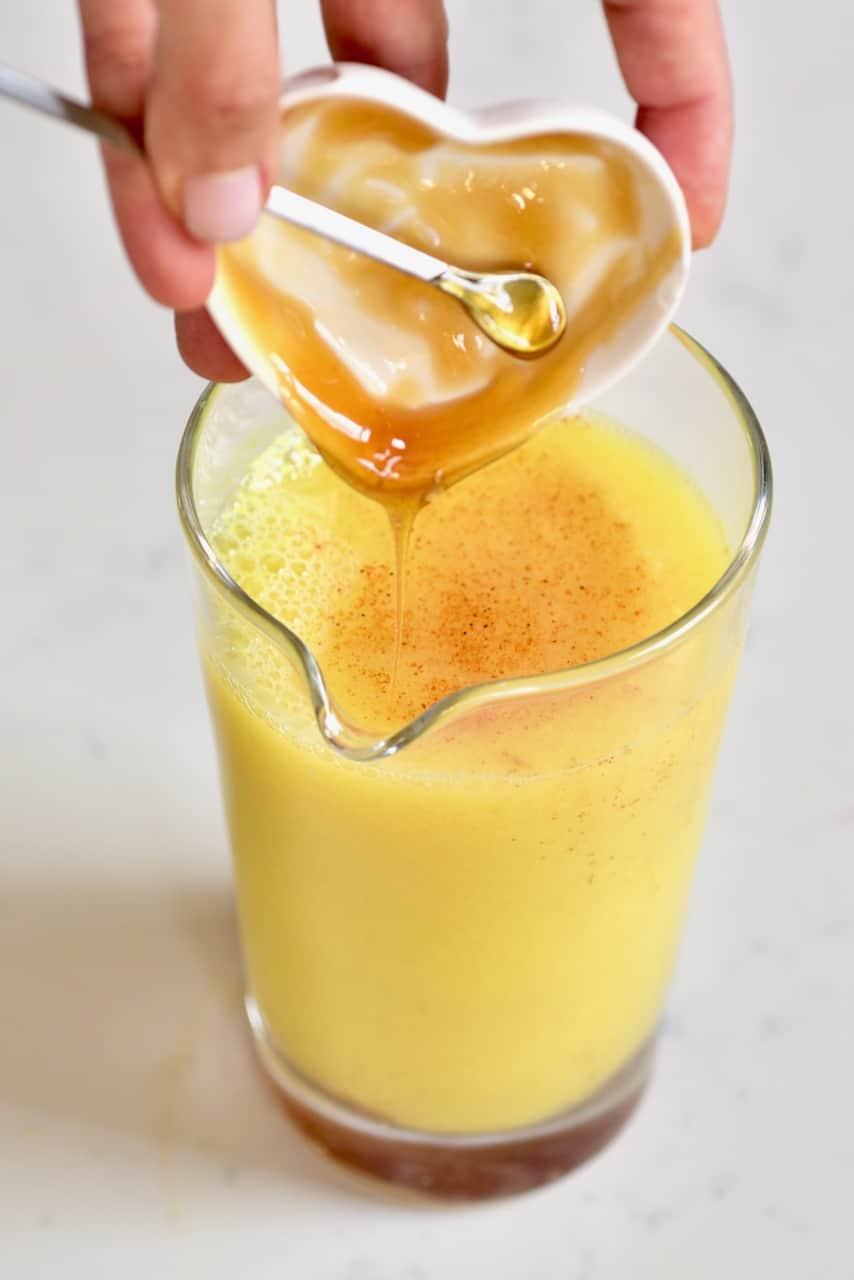 Fresh ginger lemon juice and honey