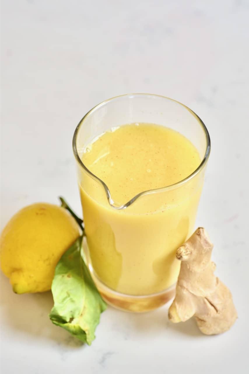 Fresh ginger lemon juice