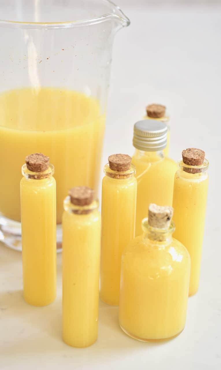 Fresh ginger lemon shots