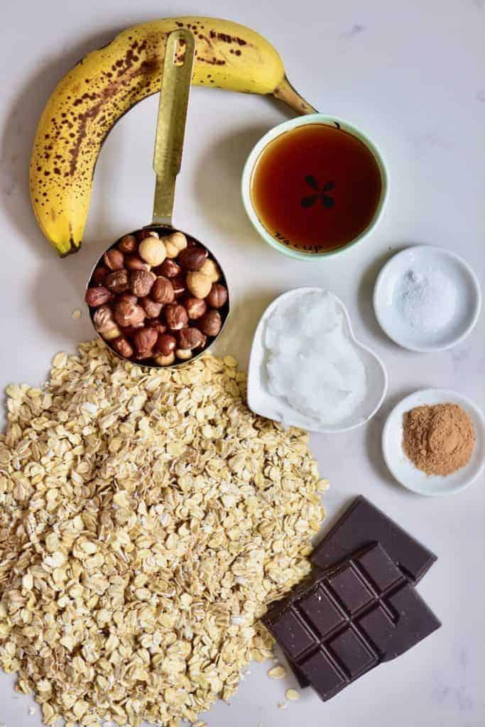 Hazelnut Oat Chocolate Cookies ingredients