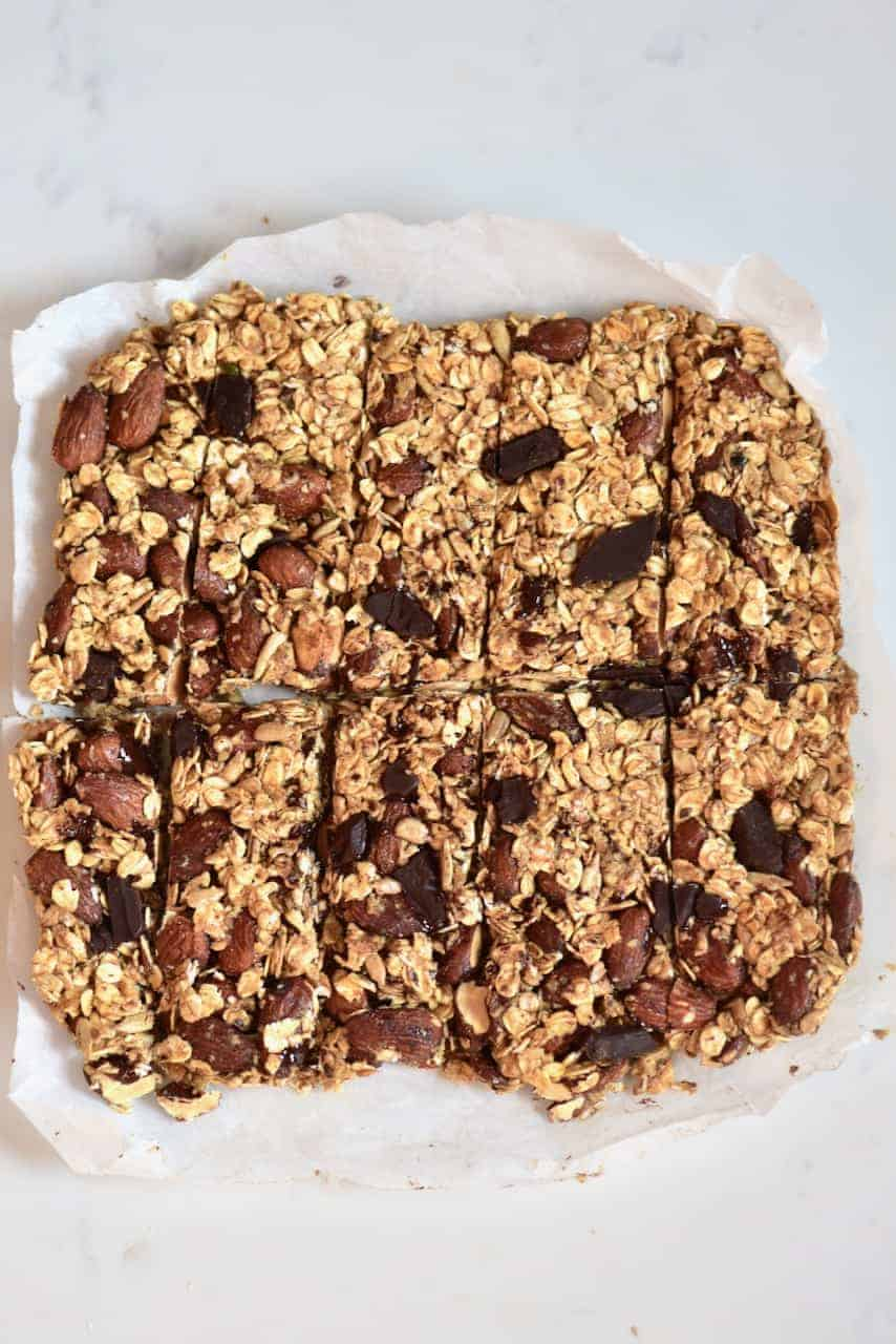Shaping homemade granola bars