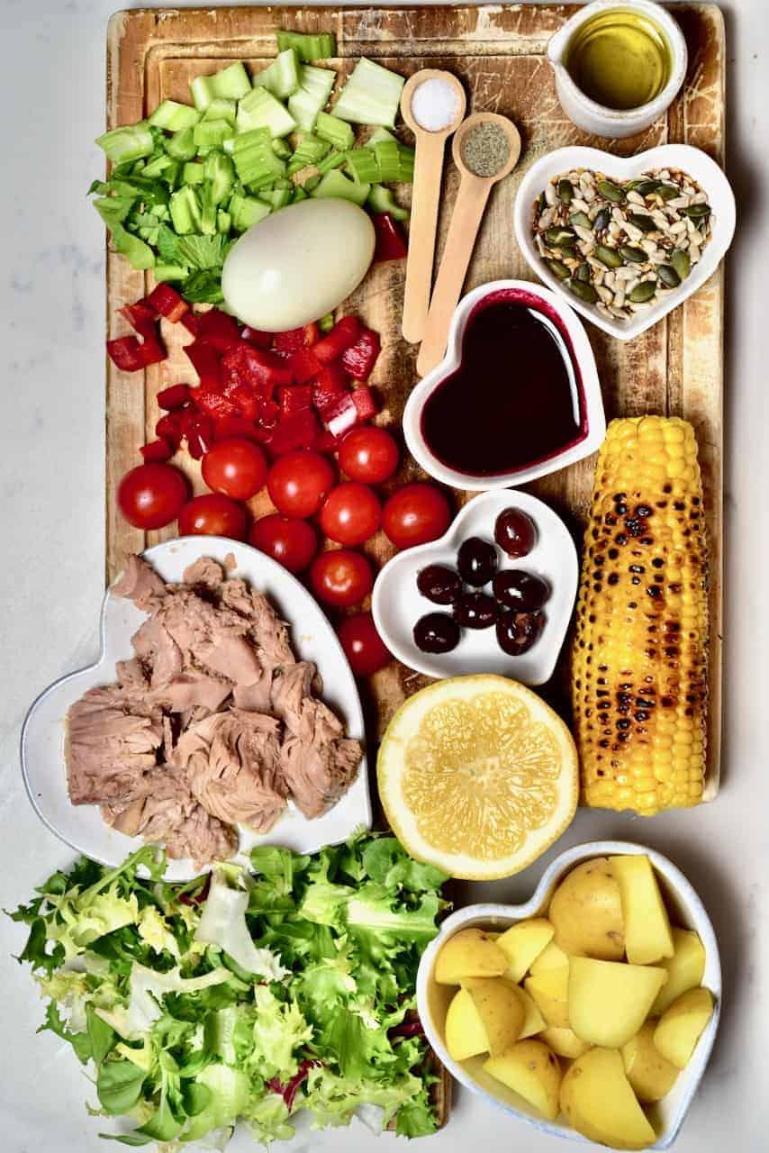 Ingredients for Tuna Pomegranate Salad