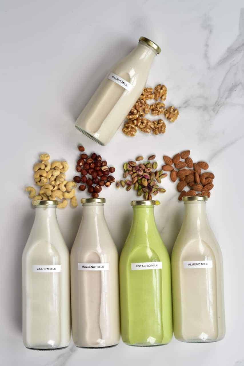 Homemade dairy-free nut milks