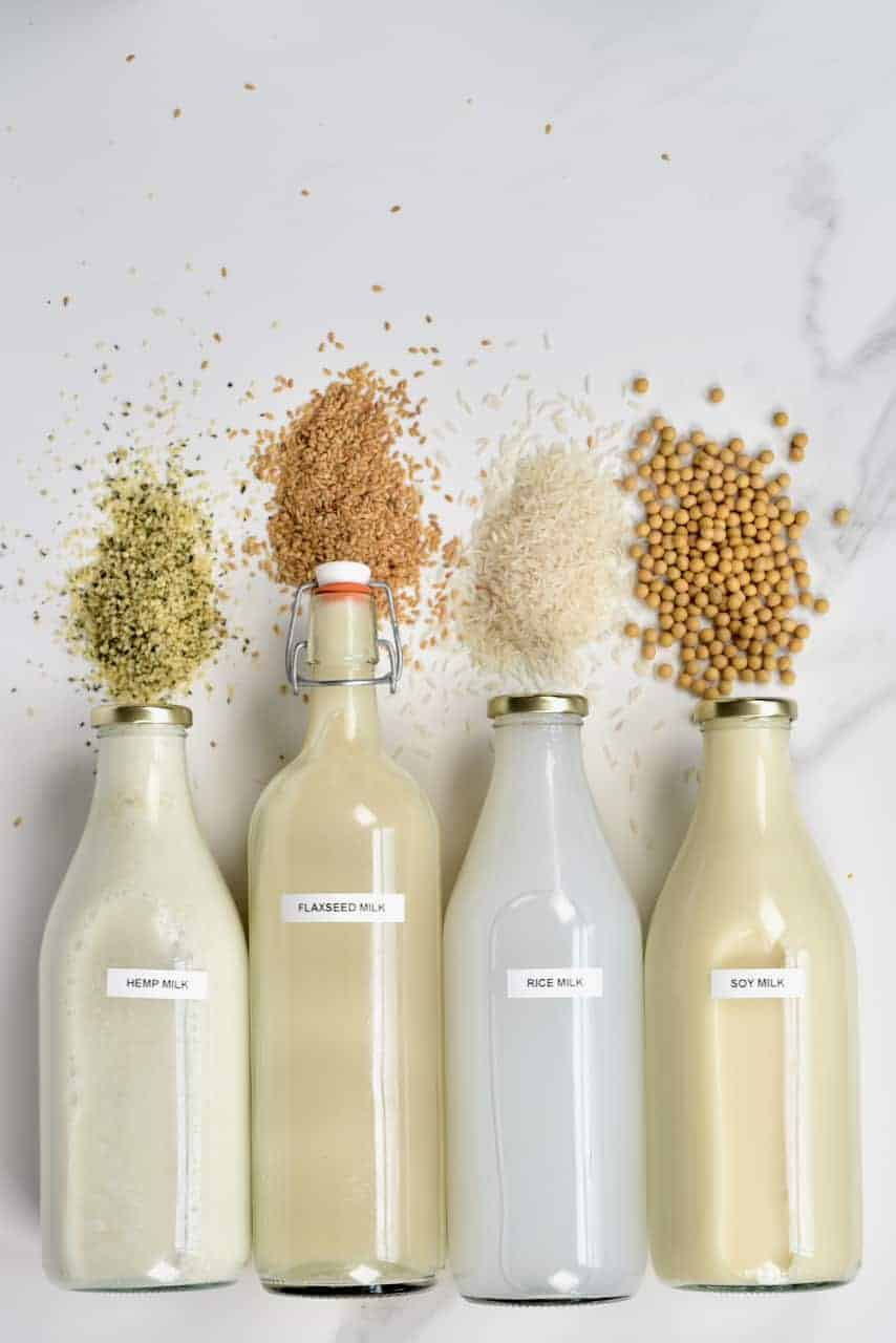 Homemade seed milk - delicious dairy-free milk in bottles