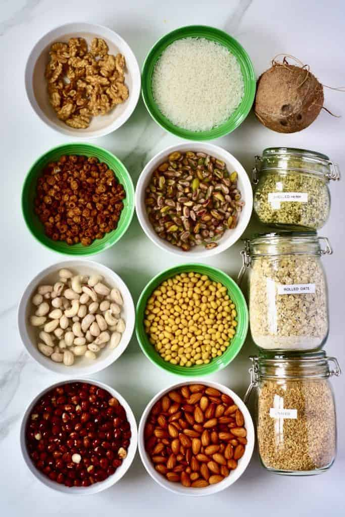 Nuts and seeds for homemade milks