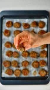Open lentil meatball