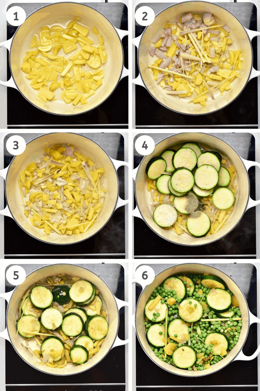Making pea soup steps