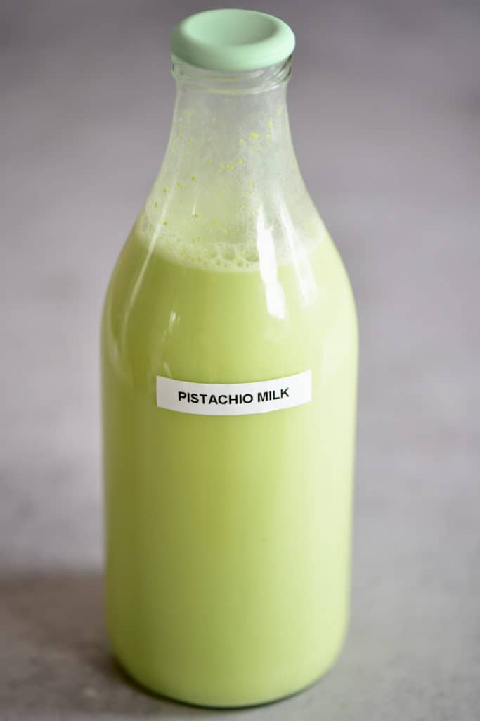 Pistachio Milk in a bottle