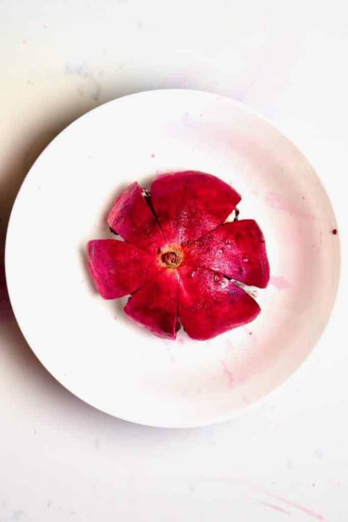 Opened pomegranate