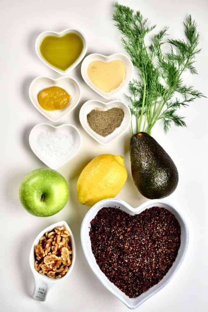 Ingredients for Quinoa Walnut Salad