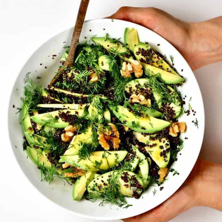 A Quinoa apple avocado salad
