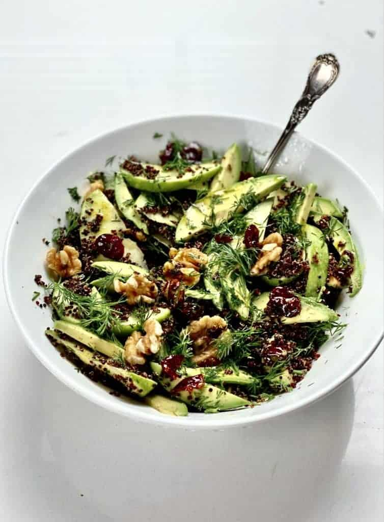 quinoa apple avocado salad
