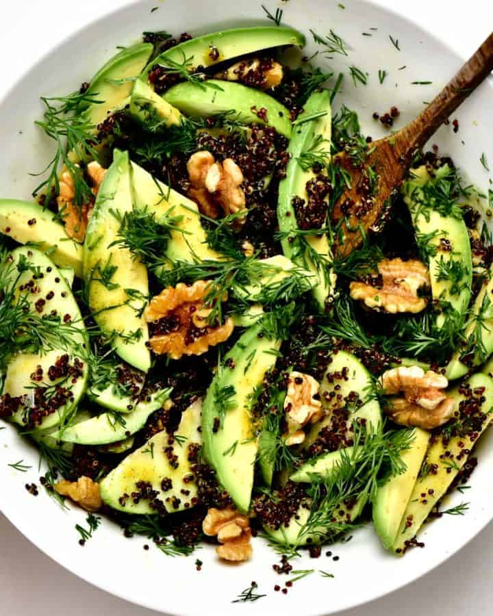 Square Quinoa Walnut Salad