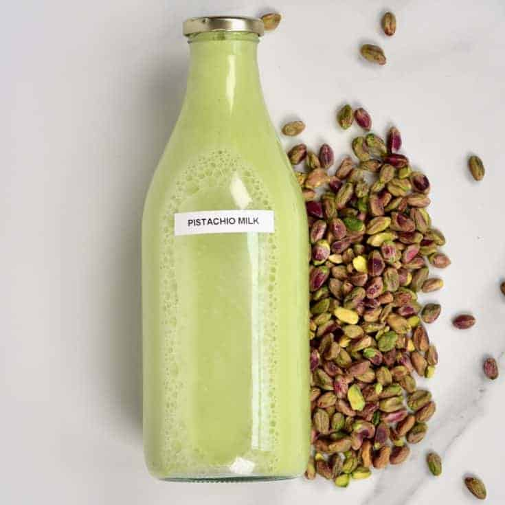 A simple post on how to make pistachio milk. This DIY pistachio milk requires just two ingredients, to creamy, dairy-free milk that can be easily flavoured, and used in a variety of ways.