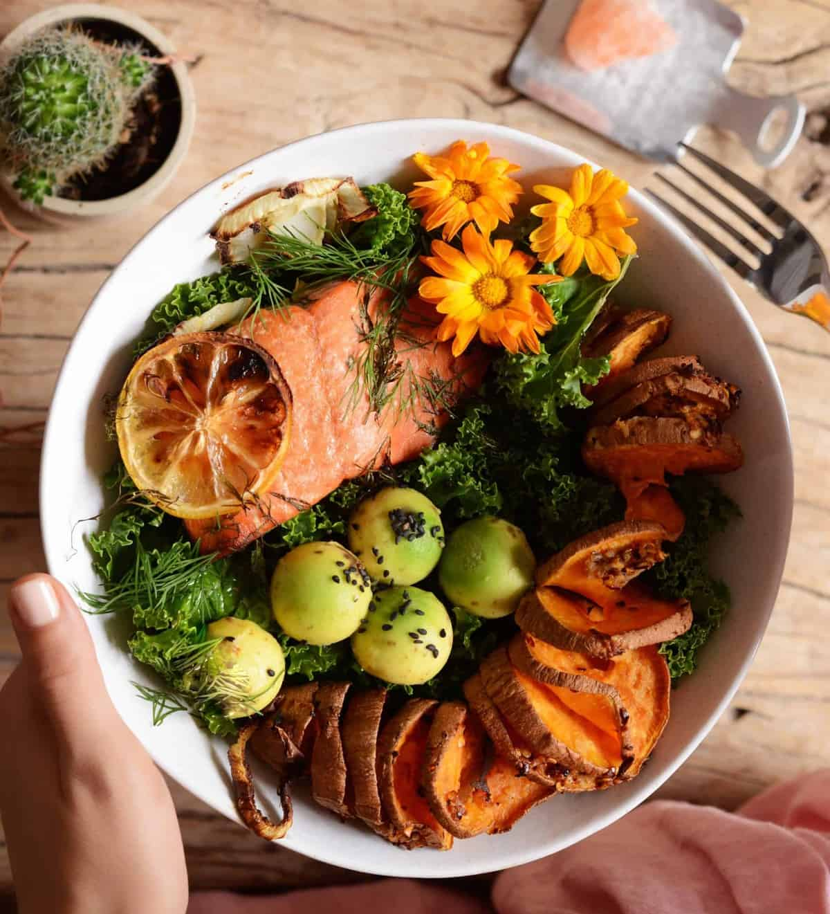 immune boosting Salmon buddha bowl