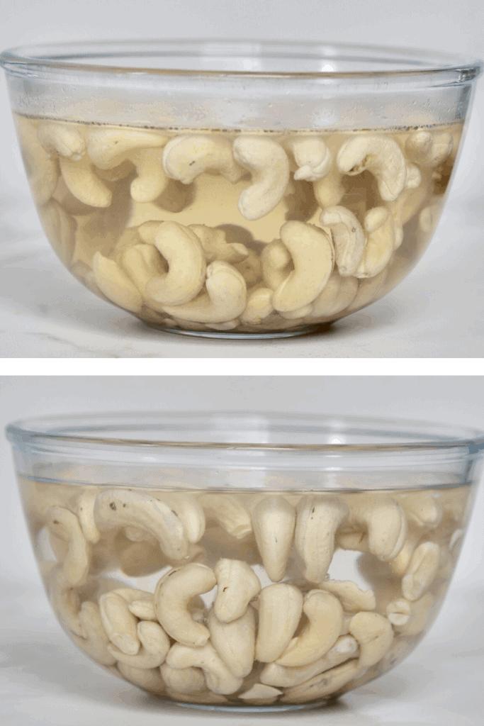 Soaked cashews