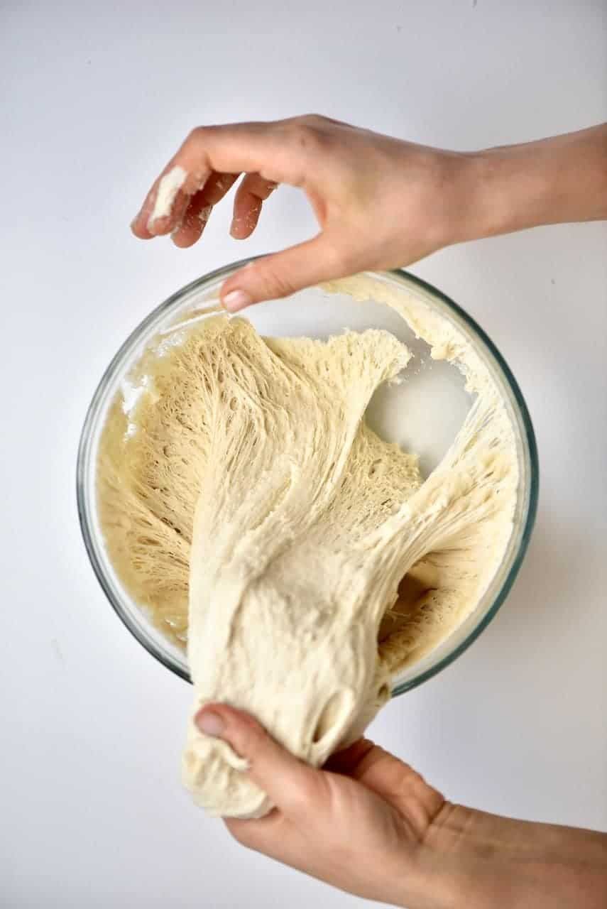 Risen dough for Spinach Fatayer