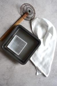 Tools needed for homemade tofu