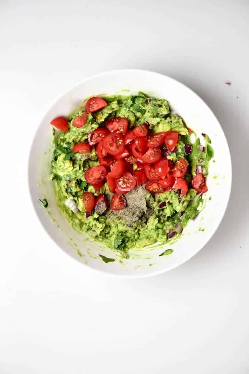 Tomatoes added to Guacamole
